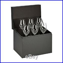Waterford Crystal Lismore Essence White Wine Glasses Set of 6, Original Box