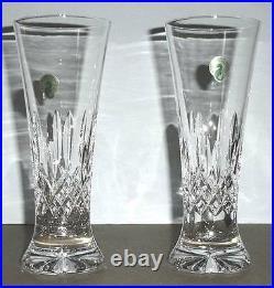 Waterford Crystal Lismore Pilsner Beer Set of 2 Glasses 8.25H #142050 New