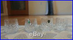 Waterford Crystal Lismore Set Of 4 Roly Poly Old Fashioned 9 Oz Tumbler Glasses
