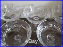 Waterford Crystal Lismore Set Of 6 Champagne Sherbet Glasses 4 1/8