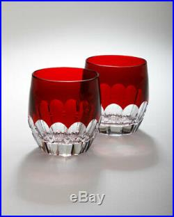 Waterford Crystal Mixology TALON RUBY RED SET/2 Highball Tumblers Pair NEW