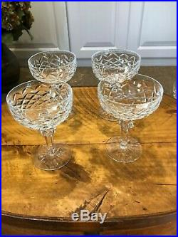 Waterford Crystal Powerscourt Champagne/Sherbert Glasses Set of 4