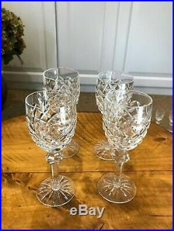 Waterford Crystal Powerscourt Claret Wine Glass 7 1/8 Set of 4