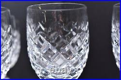 Waterford Crystal Powerscourt Claret Wine Goblets Glasses 7 Stemware SET 5