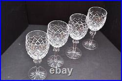 Waterford Crystal Powerscourt Water Goblets 7.5 Set of 4 OLD MARK