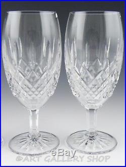 Waterford Crystal SOMERTON ICED TEA BEVERAGE WATER GLASSES GOBLETS Set 4 Unused