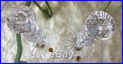 Waterford Crystal Sea Jewel Tall Candlesticks 10 Set of 2 NIB Estate Find