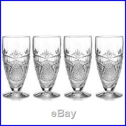 Waterford Crystal Seahorse Nouveau Ice Beverage Set of 4 Glasses