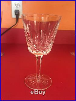 Waterford Crystal Set Of Five Claret Wine And Four Water Glasses Lismore Pattern