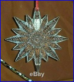 Waterford Crystal Set of 3 SnowFlake Ornaments! NIB