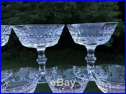 Waterford Crystal Tramore 4 1/2 Champagne Coupes 5ozs, Set Of 7