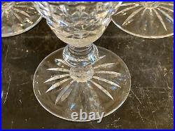 Waterford Crystal Tramore Cut Claret Wine Glasses 5 1/4 Set of 6