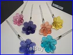 Waterford Fleurology Pansy Crystal Flowers Set Of 5/MIB