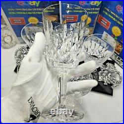 Waterford Ireland Crystal LISMORE 6-7/8 WINE WATER GOBLETS GLASSES Set of 6