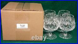 Waterford LISMORE 12 Oz Brandy Glasses SET OF FOUR More Items Here MINT IN BOX