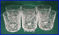 Waterford LISMORE 9 Oz Old Fashioned Tumblers SET OF SIX MINT IN BOX
