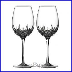 Waterford LISMORE ESSENCE GOBLET Red Wine Pair Set of 2 Wine Glasses #143781