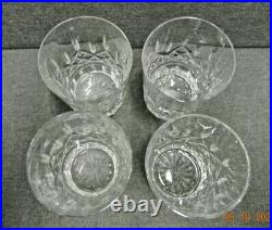 Waterford Lismore 12 oz Double Old Fashioned Glass Tumblers 4 3/8 Set 4