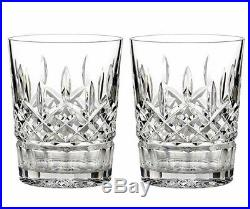 Waterford Lismore 2 PC. Double Old Fashioned DOF Glass Set 12oz #5493182120 New