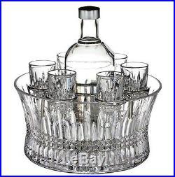 Waterford Lismore Diamond Vodka Set Chill Bowl & 6 Shot Glasses #156508 New