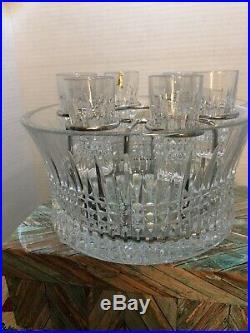 Waterford Lismore Diamond Vodka Set withchill bowl shot glasses