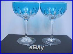 Waterford Lismore Glasses Aqua Pops Cocktail Pair- Set Of Two Nib