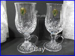 Waterford Lismore Irish Coffee Mugs Crystal Set Of 2 Glasses In Box Never Used