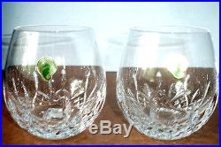 Waterford Lismore Nouveau Light Red Wine Stemless SET/2 Glasses 136878 12oz NEW