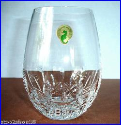 Waterford Lismore Nouveau Stemless 2 PC Deep Red Wine Glass Set #136879 16oz New