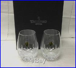 Waterford Lismore Nouveau Stemless Deep Red Wine (set Of 2) 5 1/4 Crystal