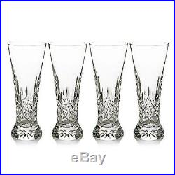 Waterford Lismore Pilsner Glasses Set of 4 NEW Crystal