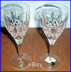 Waterford Lismore Red Wine Glasses SET/2 Crystal Made/Ireland 50 Anniversary New