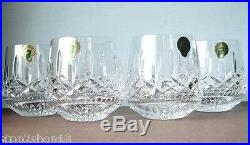 Waterford Lismore Roly Poly Old Fashioned Tumbler DOF Set / 4 Glasses New In Box