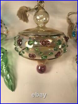 Waterford Marquis''pastel Gems'' Christmas Ornaments Set Of 3 In Box Signed Mar
