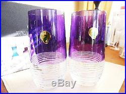 Waterford Mixology CIRCON Purple Hiball Highball Glasses Set / 2 NEW / BOX