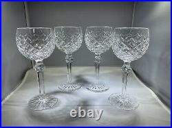 Waterford Powerscourt Wine Hocks Set Of 4 Mint Condition! FREE SHIPPING