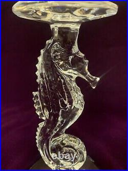 Waterford Tall Seahorse Candlesticks Set of 2 Beautiful, Great Condition $1
