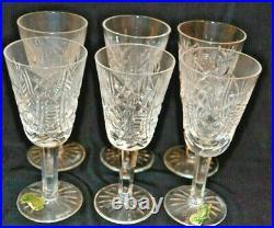 Waterford Vintage Pattern Crystal 5 Port Wine Glasses-set Of 6 Sale