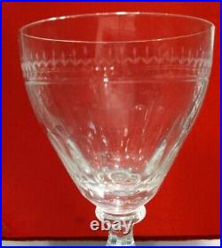 William Yeoward Eleven Crystal Gloria Pattern Wine Glasses Handcut And Handblown