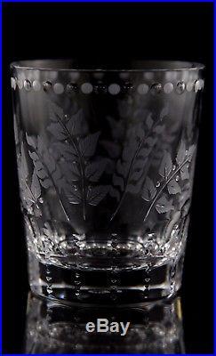 William Yeoward Fern Crystal Old Fashioned Tumbler Glasses, Set of (6)