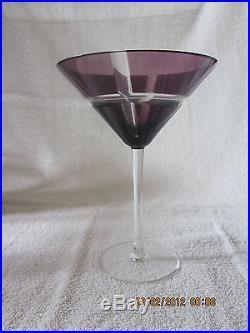 (set of 6) Ajka Hungary Movado Edition Crystal Old Fashioned Martini Glasses